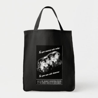 Ladies Go to The Nearest Recruiting Station Tote Bag