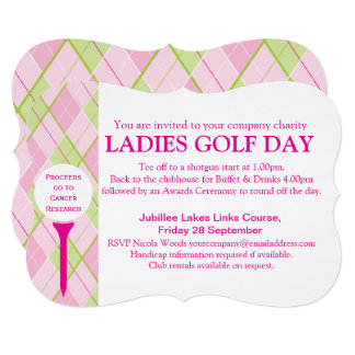 Ladies Golf day corporate group event invitation