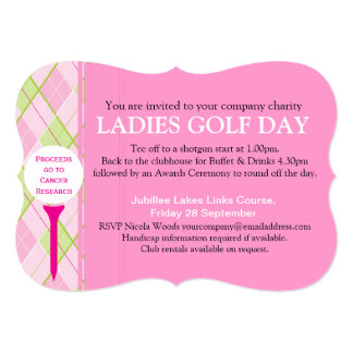 "Ladies Golf day corporate group event invitation 5"" X 7"" Invitation Card"