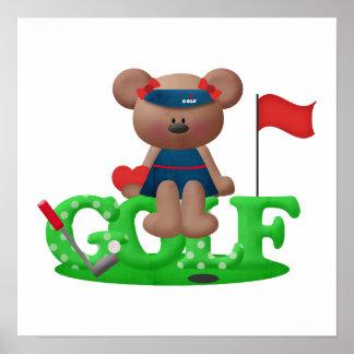 Ladies Golf Gift Poster