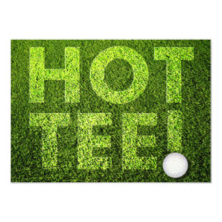 "Ladies Golf ""Hot-tee"" Birthday Party Card"