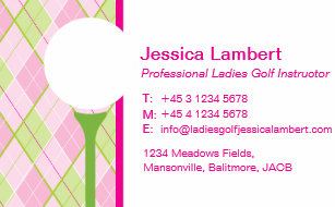 Golf business cards templates zazzle ladies golf instructor business cards colourmoves
