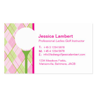 Ladies golf instructor business cards