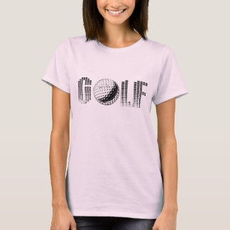 Ladies Golf Shirt for Gold lovers