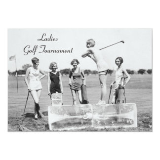 Ladies Golfing On ICE! Golf Tournament Invitations