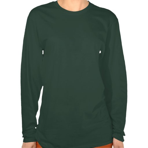 Ladies Green Android Long-Sleeve Shirt