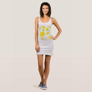 Ladies grey Dress with lemons