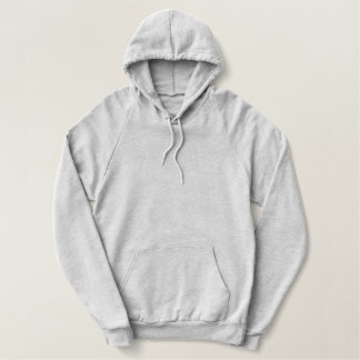 Ladies Grey Pullover Fleece Hoodie