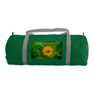 Ladies Gym Bag with photo of a Brown-Eyed Susan