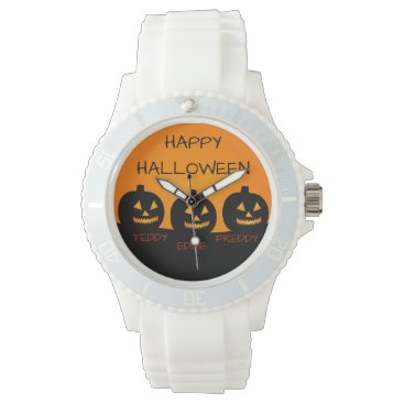 Halloween Themed Ladies Halloween Sporty White Silicon Watch