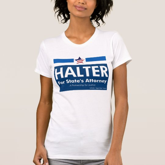 Ladies Halter for State's Attorney T-Shirt