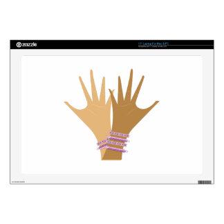 """Ladies Hands 17"""" Laptop Decals"""