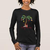 Ladies Holiday Shirt-Feliz Navidad Long Sleeve T-Shirt