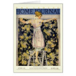 Ladies Home Journal 1921 cover by Coles Phillips Greeting Card