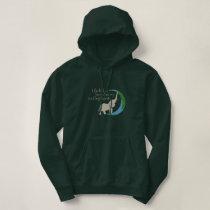 Ladies hoodie with logo
