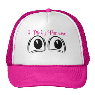 Ladies hot pink baseball cap with eyes trucker hat