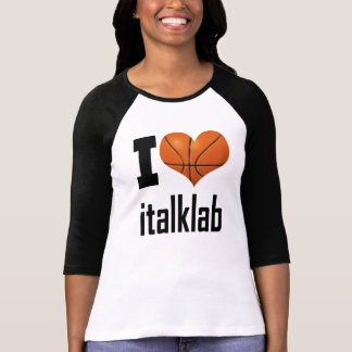 "Ladies ""I Love italklab""  3/4 Sleeve Raglan T-Shirt"
