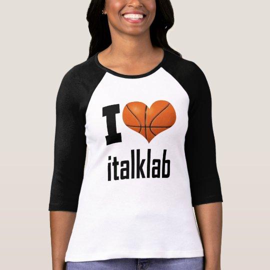 """Ladies """"I Love italklab""""  3/4 Sleeve Raglan T-Shirt"""
