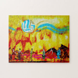 Ladies in a Surrealistic Landscape Jigsaw Puzzle