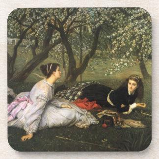 Ladies in Apple Blossoms Beverage Coaster