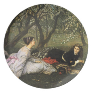 Ladies in Apple Blossoms Party Plate