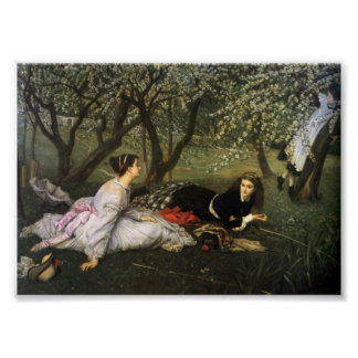 Ladies in Apple Blossoms Poster