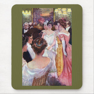 Ladies in Gowns at Dinner Party Mouse Pad