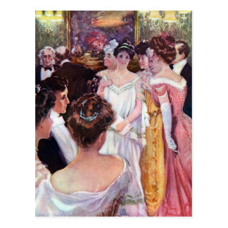 Ladies in Gowns at Dinner Party Postcard