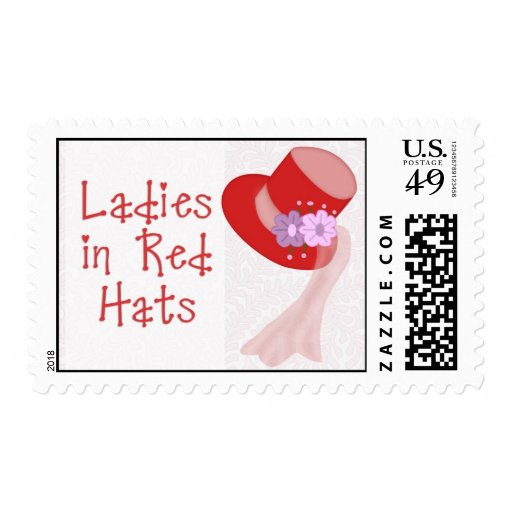 Ladies in Red Hats Postage