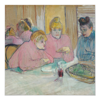 Ladies in the Dining Room by Toulouse-Lautrec Card
