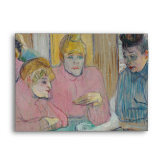 Ladies in the Dining Room by Toulouse-Lautrec Envelopes