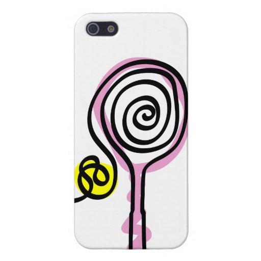 Ladies iPhone case with pink tennis racket design iPhone 5 Cases