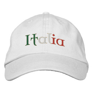 Ladies Italia hat for Calcio fans Italy Soccer Embroidered Baseball Cap