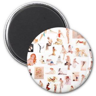 Ladies Ladies Ladies! 2 Inch Round Magnet