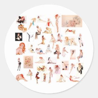 Ladies Ladies Ladies! Classic Round Sticker