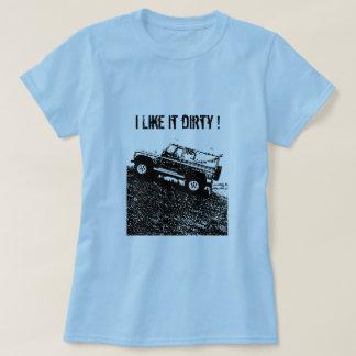 Ladies Land rover t shirt.  I Like it dirty ! T-Shirt