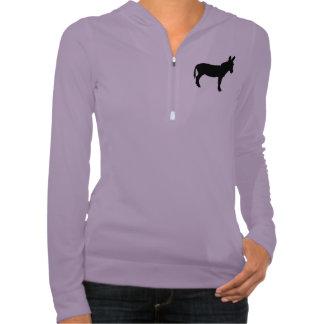 Ladies Lavender Alo half zip hoodie with donkey