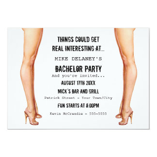 Ladies Legs Bachelor Party Invitations