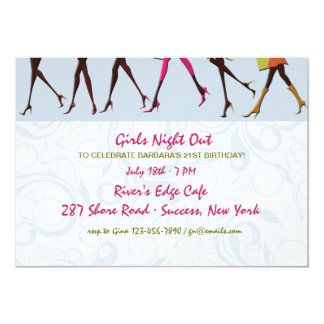 Ladies Legs Girl's Night Out Invitation