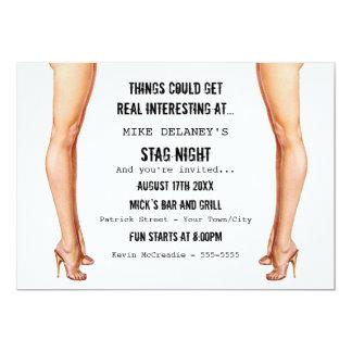 Ladies Legs Stag Night Invitations