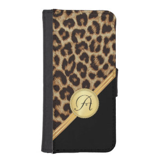 Ladies Leopard Print with Monogram iPhone5 iPhone SE/5/5s Wallet