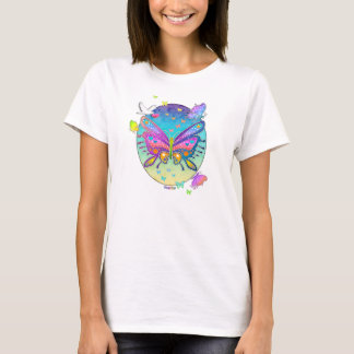 Ladie's Light T-Shirt - BUTTERFLY POP ART