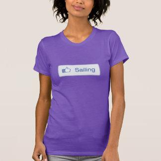 Ladies Like Sailing T-shirt On Violet