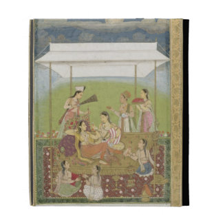 Ladies listening to music in a garden, from the Sm iPad Folio Cover