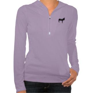 Ladies Local Donkey Alo Half Zip Jumper Hooded Sweatshirts