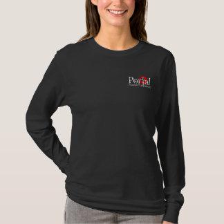 Ladies Long Sleeve Black T-Shirt