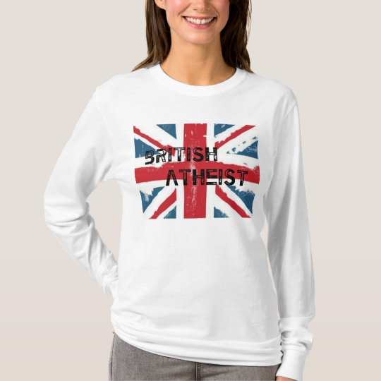 Ladies Long Sleeve British Atheist Tee. T-Shirt