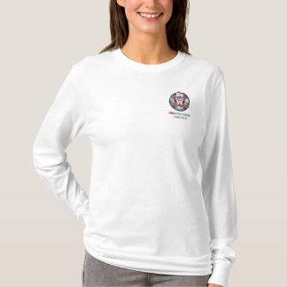 Ladies Long Sleeve Embroidered Long Sleeve T-Shirt