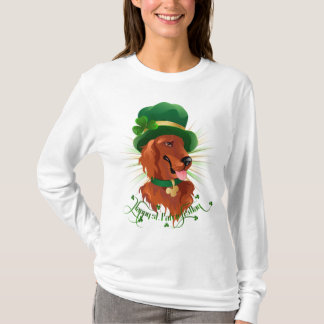 Ladies long sleeve shirt with Irish Setter charact