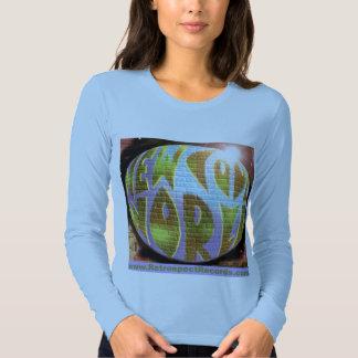 "Ladies Long Sleeve with ""New Cool World""LOGOnRRtag Tee Shirt"